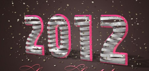 3D Ribbon Wrapped Text Effect