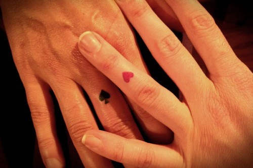 Black and Red Heart Tattoos
