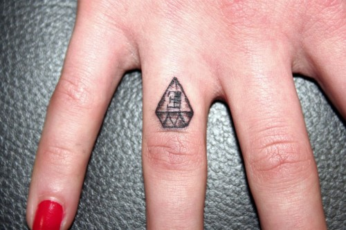 Brilliant at the Finger Tattoo