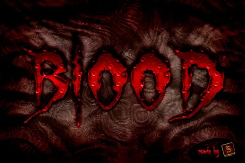 Create a Bloody Text Effect