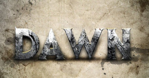 Dawn of War Style Concrete Text Effect