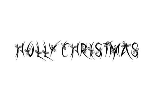 Holly Christmas Font