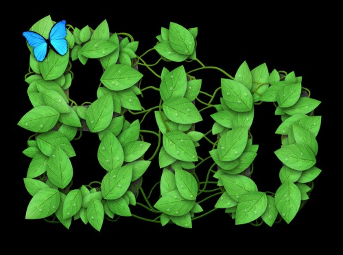 Leaf Themed Text Effect
