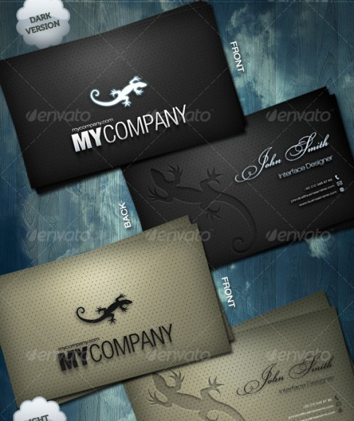 Leather Style Business Card