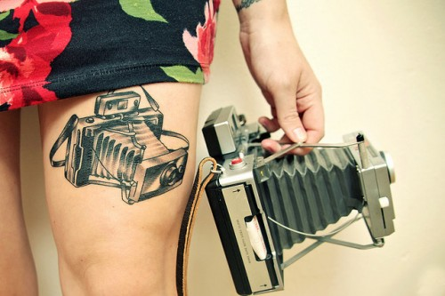 Polaroid Land Camera 100 Tattoo
