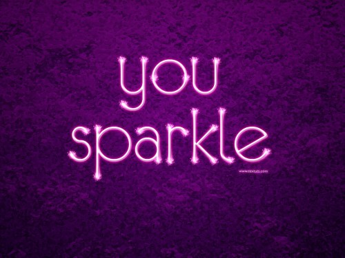 Sparkling Text Effect