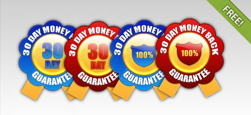 4 Free Money Back Guarantee Badges