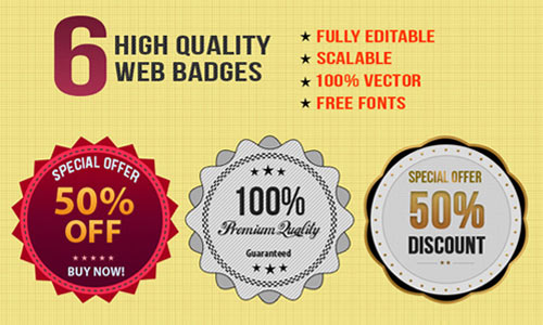 6 Free Stylish Web Badges