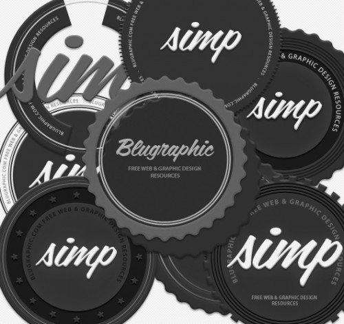 8 Circle Vintage Psd Badges