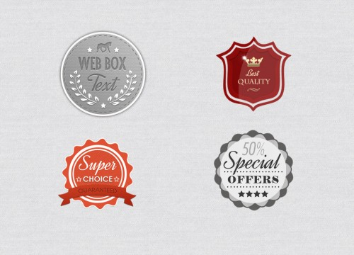 Badges - Free PSD File