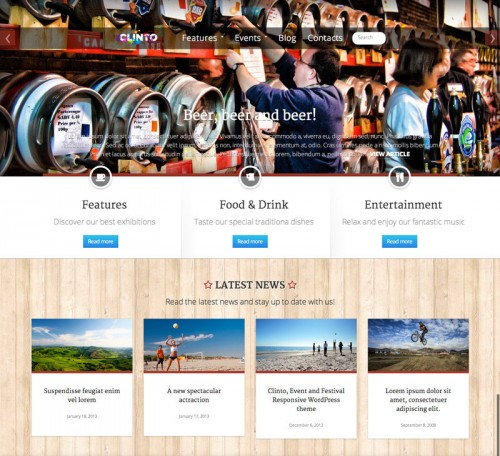 Clinto - HTML5 Responsive Theme for Events
