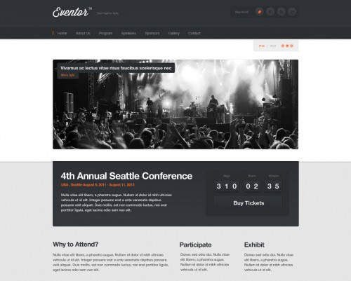 Eventor - Event WordPress Theme