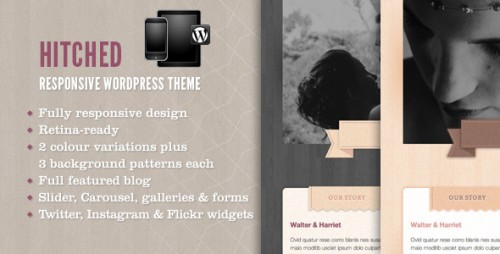 Hitched - Responsive WP Wedding Theme
