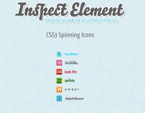 Spin Those Icons with CSS3