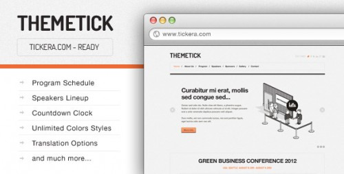 Themetick - Event Management Theme