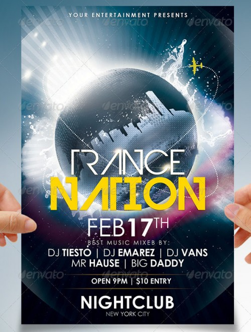 Trance Nation Party Flyer