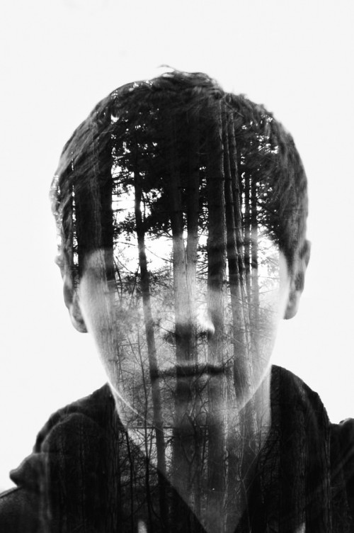Tree Boy- Double Exposure