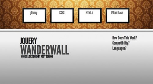 WanderWall – Hover-Based Interface
