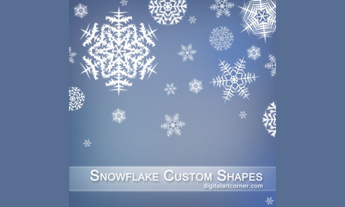 4 Snowflake Custom Shapes