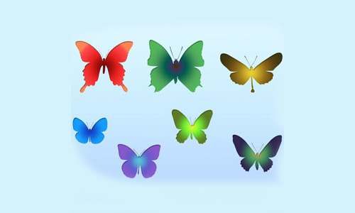 8 Free Butterflies Shapes