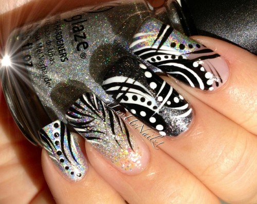 Abstract Nail Art Style