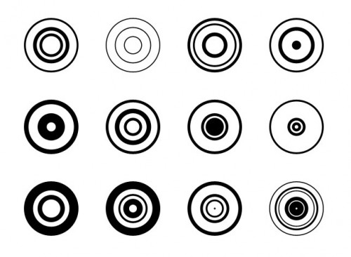 Circle Shapes I for Photoshop