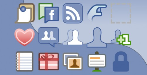 Facebook UI Icons Vector