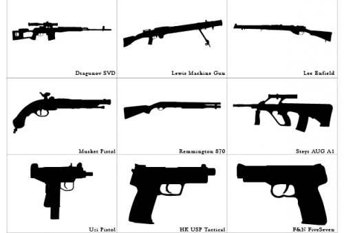 Free Custom Guns Shapes
