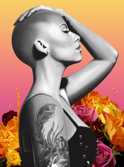 Digital Painting: Amber Rose