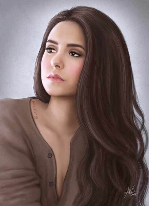Digital Painting of Nina Dobrev