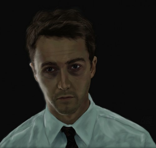Edward Norton Digital Painting