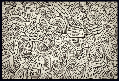 Hand Drawn Doodle City