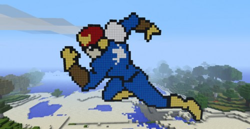 Captain Falcon Pixel Art