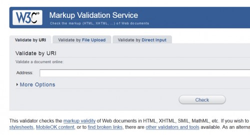 W3C Markup Validation Services