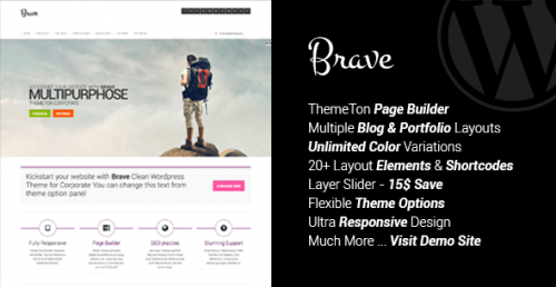 Brave - Clean Responsive Theme