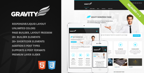 Gravity - Business Theme for Creative