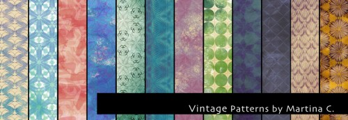 12 HQ Vintage Patterns