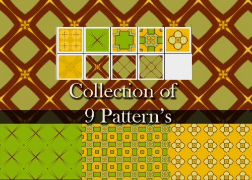 9 Patterns - All Overs Dimond Square