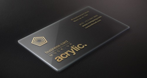 Acrylic Psd Business Card Mock-Up