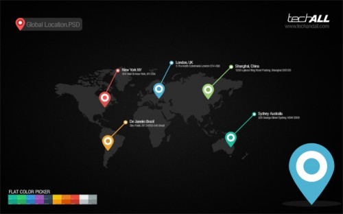 Free Global Location Map