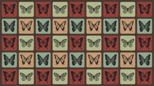 Retro Butterflies Pattern