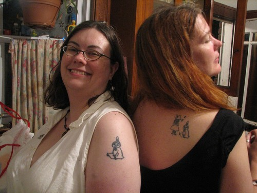 Women Matching Tattoo Design