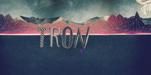 TRON: Typography illustration