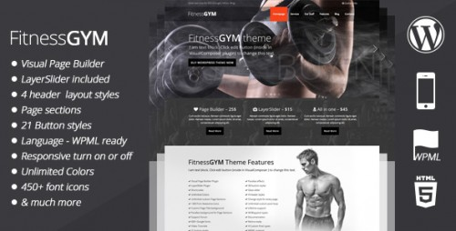 FitnessGYM - WordPress Sport Theme