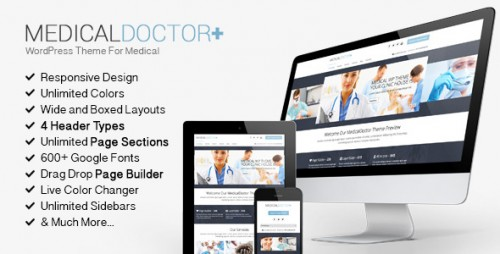 MedicalDoctor - WordPress Theme For Medical