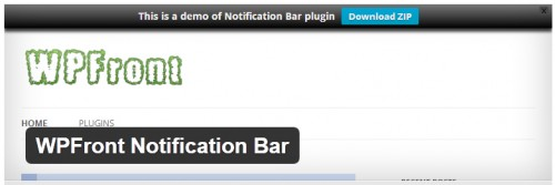 WPFront Notification Bar