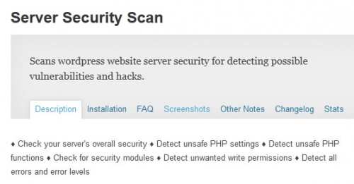 Server Security Scan