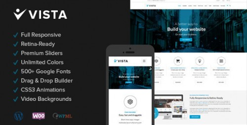 Vista - Responsive Multi-Purpose WordPress Theme