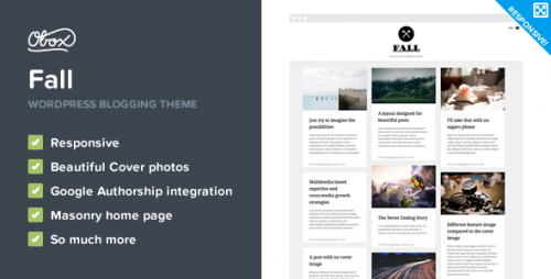 Fall - Premium WordPress Blogging Theme