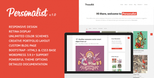 Personalist - Creative Portfolio WordPress Theme
